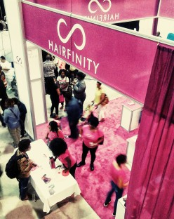 HAIRFINITY's booth at The Let Your Hair Down Expo
