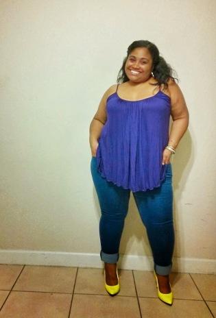 in SWAK Pretty Cami & Skinny Jeans/Curves a la Mode