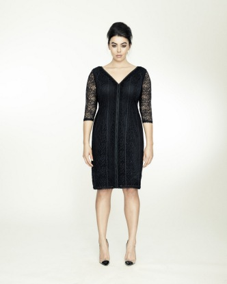 STRETCH LACE V DRESS BY ISABEL TOLEDO