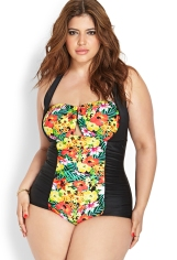 F21+ Tropical Paradise Swimsuit