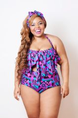 "Nakimuli ""Black Aztec Serengeti"" Swimsuit"