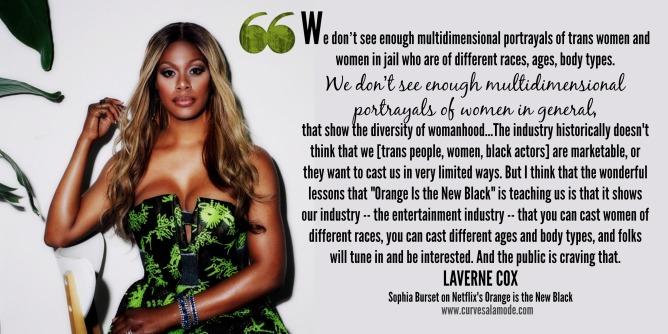 Laverne Cox quote | curvesalamode.com