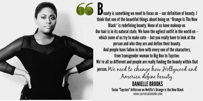Danielle quote #OITNB | curvesalamode.com