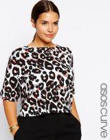 Crop Top In Leopard Print via ASOSCurve