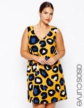 Shift Dress In Bright Animal Print via ASOS Curve