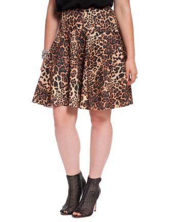 Scuba Skater Skirt via Eloquii