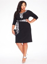 Gillian Dress in Black via Igigi