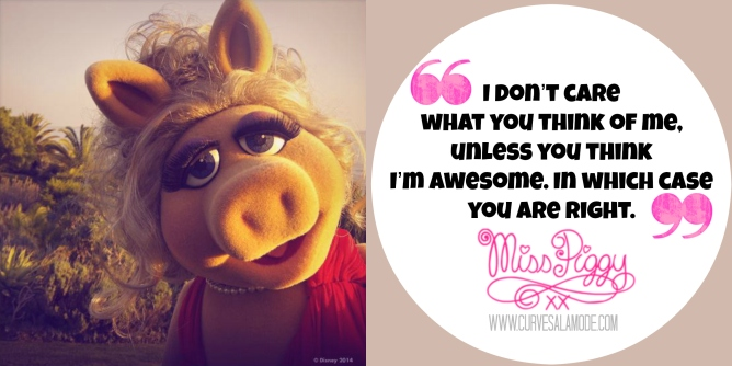 7 Life Lessons from Miss Piggy / www.curvesalamode.com