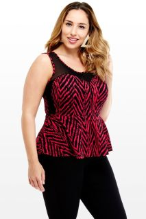 Night Club Peplum Top via Fashion To Figure