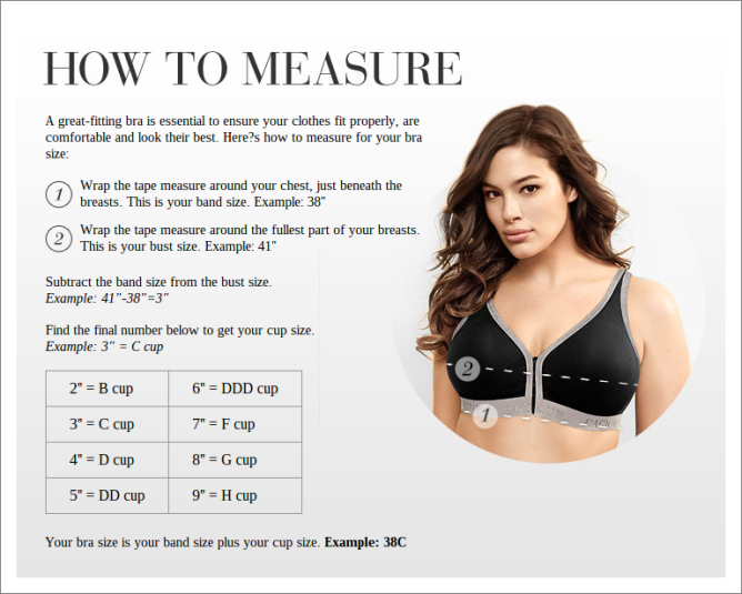 Lane Bryant bra guide