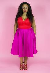 """Amour Tru"" Midi Full Circle Skirt $75.00"