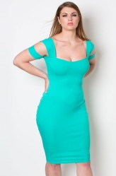 "GRISEL. ""OCEAN GODDESS"" RIBBED BODYCON DRESS"
