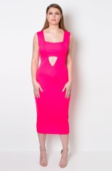 "GRISEL. ""TRUTH OR DARE"" BODYCON CUT-OUT DRESS"