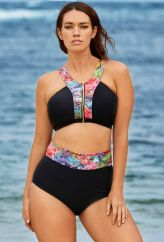 Laura Wells for S4A -- Laura Wells Coral Reef Zip Front Bikini