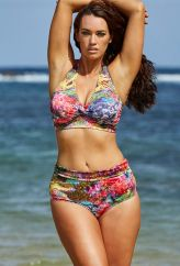 Laura Wells for S4A -- Laura Wells Coral Reef Halter Bikini