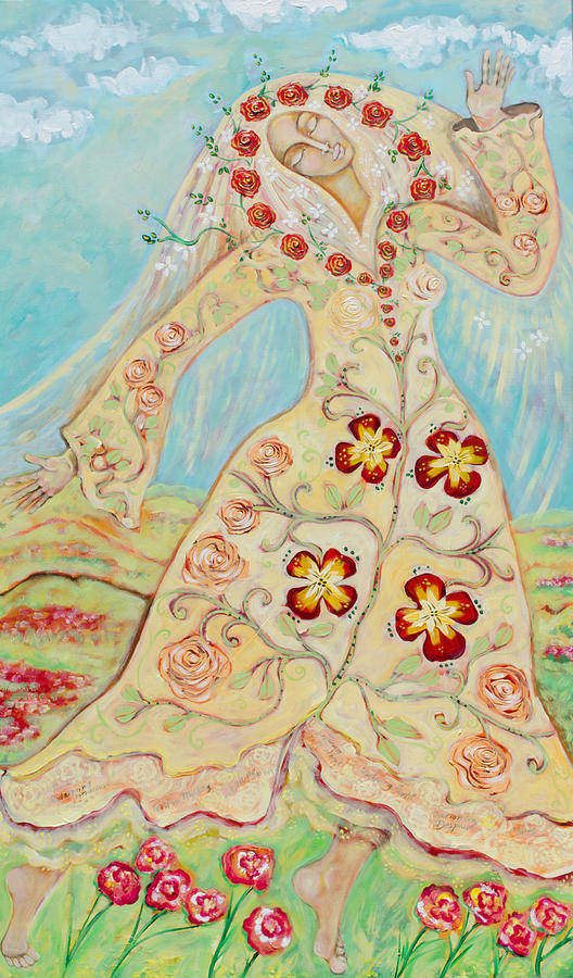 """Our Lady Of The Flowering Earth"" by Shiloh Sophia McCloud"