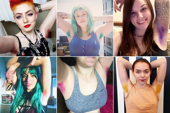 via http://nypost.com/2014/12/03/the-latest-wacky-beauty-trend-dyed-armpit-hair/
