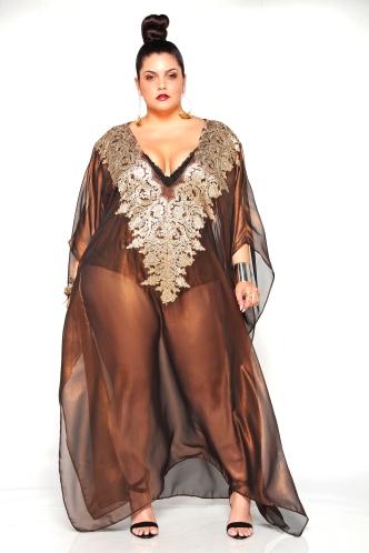 JIBRI Lace Embellished Maxi Kaftan