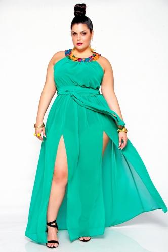 JIBRI Sheer Sequin Neck Sheer Poolside Dress