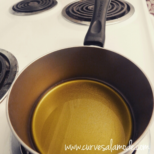STEP 2: Warm up Olive Oil