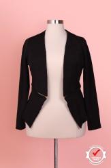 Margot Meanie Floral Black Blazer (Sizes 16 - 20)