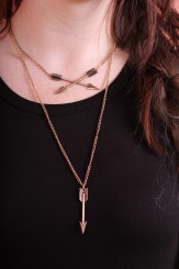 Margot Meanie Arrow Pendant Necklace