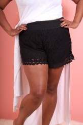Margot Meanie Black Lace Shorts (Sizes 12 - 22)