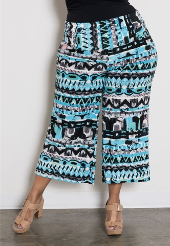 SWAK Design's PRINTED GAUCHO PANTS