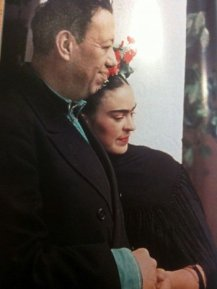 Frida Kahlo and Diego Rivera.