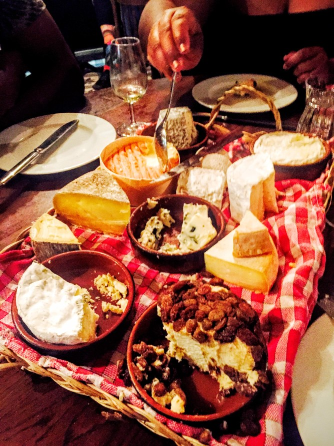 The cheese plate at Chez Casimir