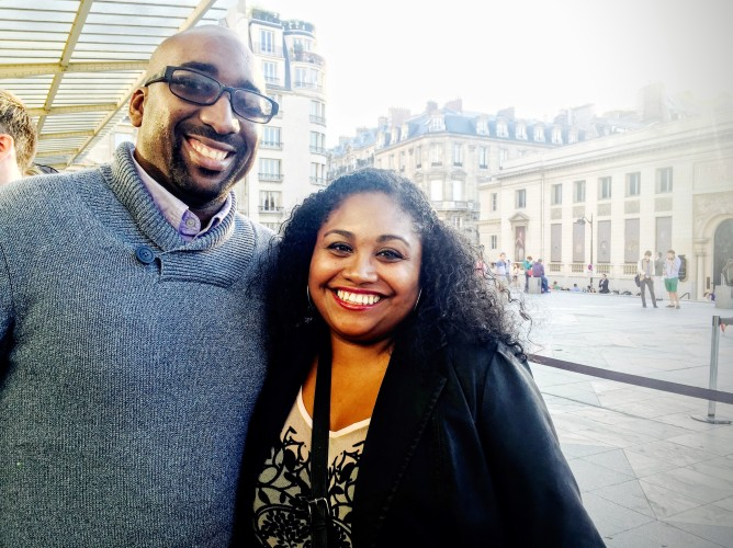 The Hubby and I outside Musee D'Orsay