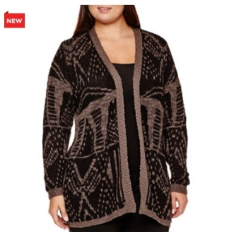 Long-Sleeve Patterned Duster