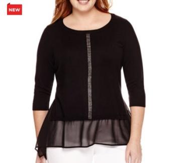 Long-Sleeve Embellished Sweater
