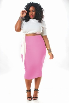 JIBRI HIGH WAIST PENCIL SKIRT